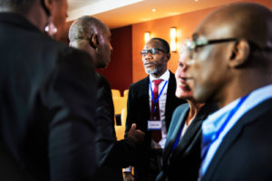 Conference Attendees Talk Business