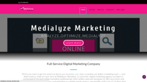 medialyze marketing geofencing home page screenshot
