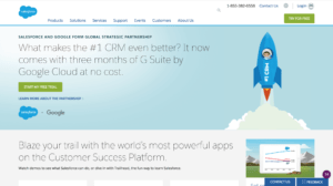 salesforce home page screenshot geofencing